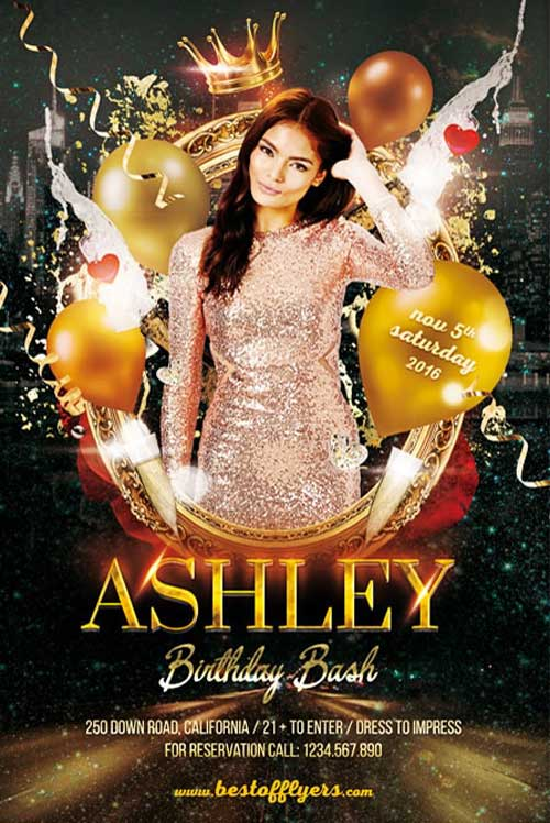 Birthday Bash Party Free Flyer Template Flyer For Clubs Ffflyer