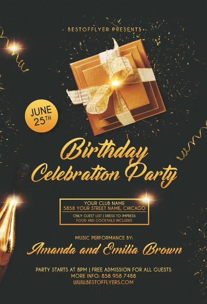 Birthday Celebration Free Flyer Template Flyer For Clubs Ffflyer