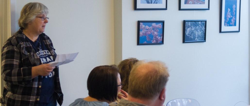 Monica Grönlund presenterar sin utställning