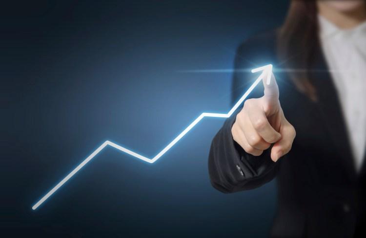 Businessman plan growth