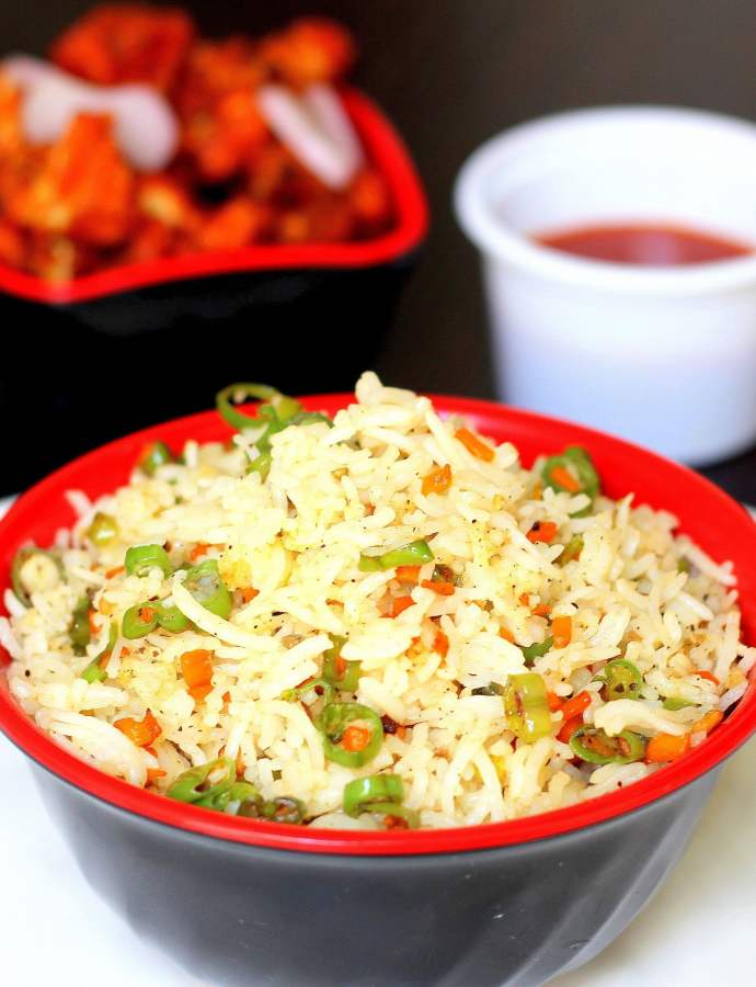 Veg Fried Rice, How to make Veg Fried Rice at home