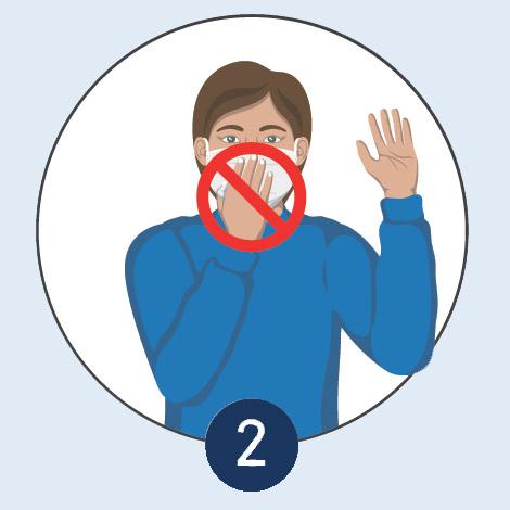 FFP2 Maske nicht berühren