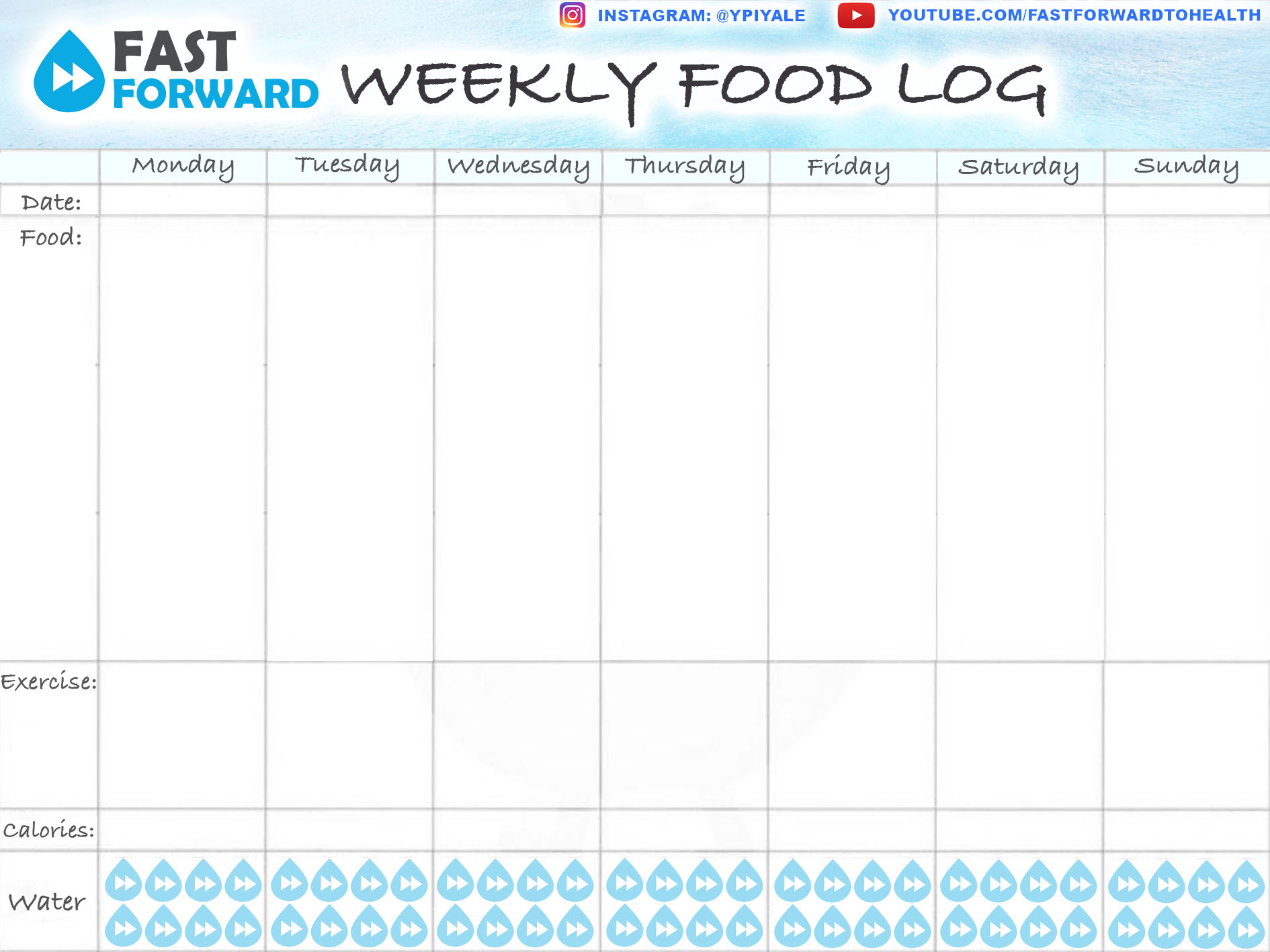 Macro Tracking Worksheet Amp Printable Food Log