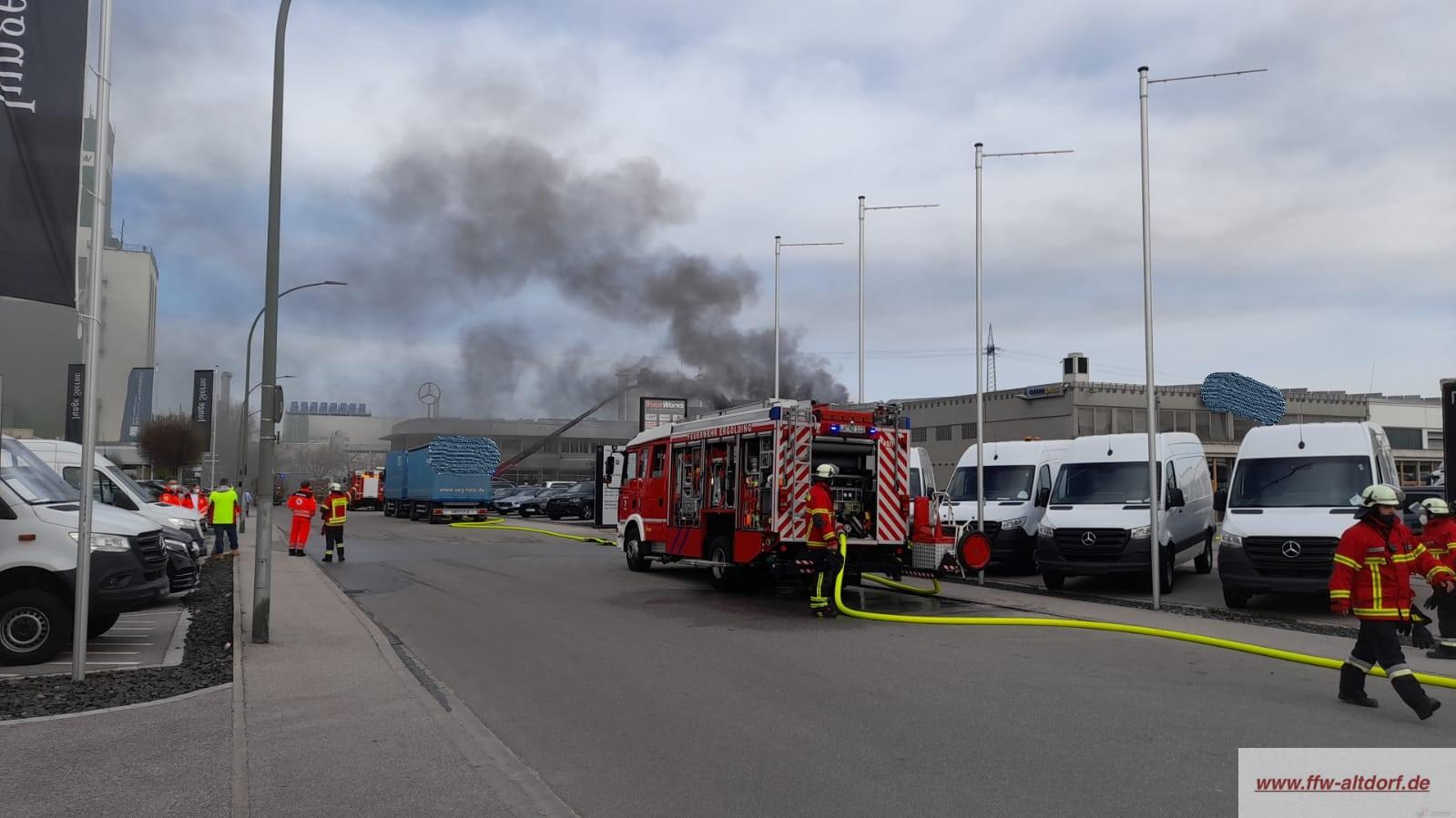Brand Industriegebäude