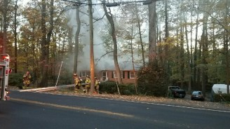 Annandale Basement Fire Displaces Two