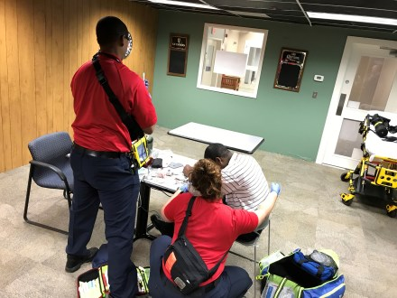 Paramedic Students Gearing Up For Final Exam