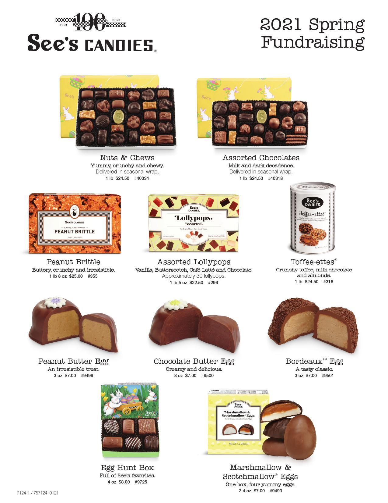 See's Candies Spring/Easter TACH 2021 Fundraiser!