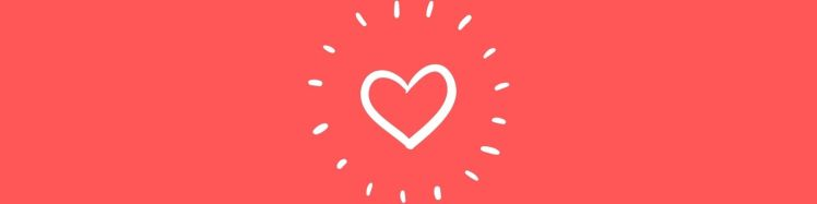 Picture of a heart on a red background to represent Create Jewelry With Meaning