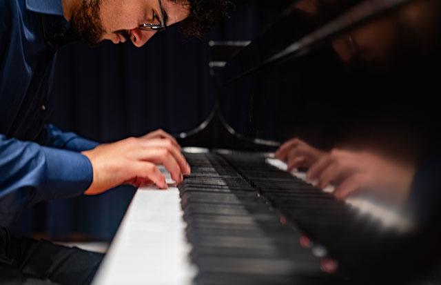 Photo shows FGCU piano student