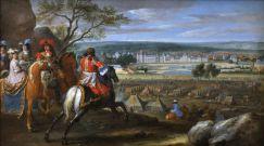 Par Vue du château de Fontainebleau du côté des parterres en 1669, Adam Frans Van der Meulen