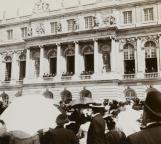 Visite du roi Espagne Alphonse XIII avec le président Millerand en 1921
