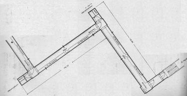 Luftschutzdeckungsgraben in Zick-Zack-Form. Die Konstruktionszeichnungen wurden vom Reichsministerium mit den zugehörigen Bestimmungen veröffentlicht.