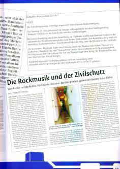 Auszug aus der Presseschau. Die Dokumentation enthält ausgewählte Artikel zum Projekt.