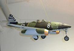 Modell einer Me 262 im Flugplatz-Museum Schwäbisch Hall. Fast ein Drittel aller ausgelieferten Me 262 wurden hier montiert.