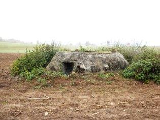 Etwa 200 - 300 m von der Batterie Hochmössingen entfernt ist dieses Fundament für einen Würzburg Riese erhalten.