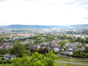 Blick ins Neckartal. Der Turmbeobachter konnte die meisten umliegenden Batterien sehen.