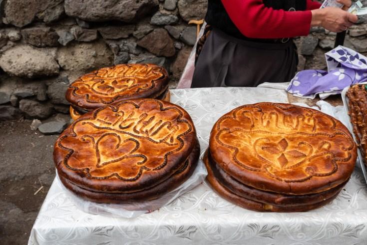 Gata, an armenian round bread