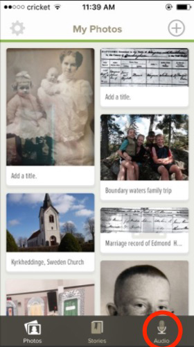 How to use the FamilySearch Memories app to record an oral history.