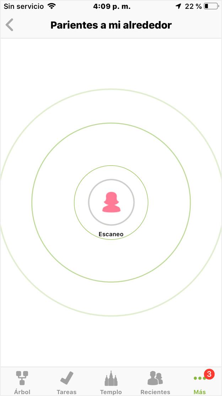 relative finder [buscador de familiares] en ios