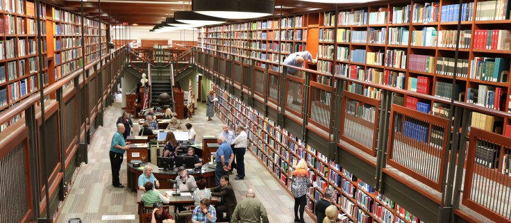 The inside of the SAR Genealogical Research Library.