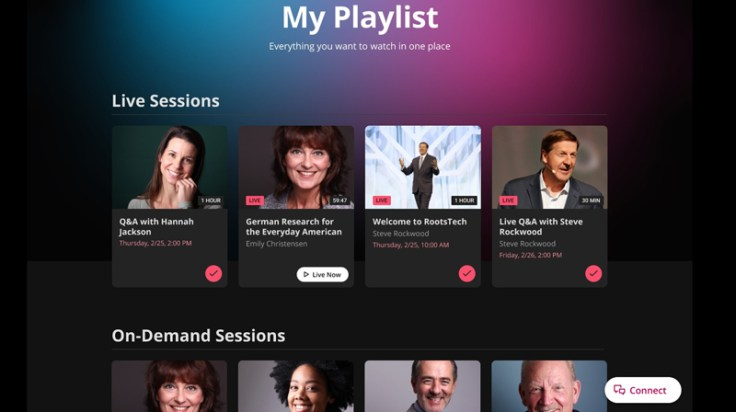 My Playlist on the RootsTech Website