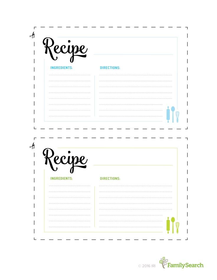 Print Recipe Cards