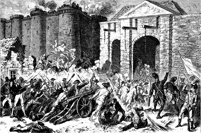 The Storming of the Bastille on July 14, 1789 marked the beginning of the French Revolution.