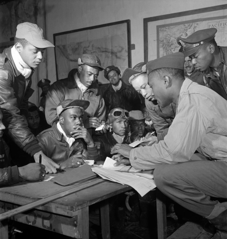 Tuskegee Airmen. Learn more about them at the Alabama black history museums