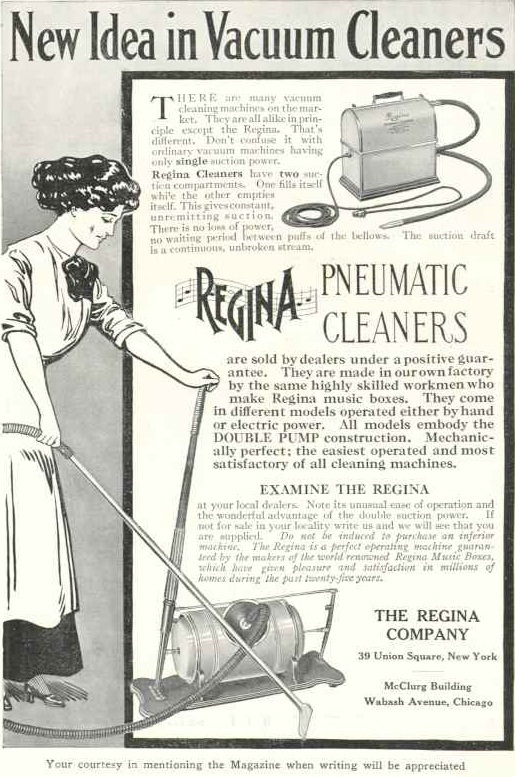 Early ad of a vacuum cleaner