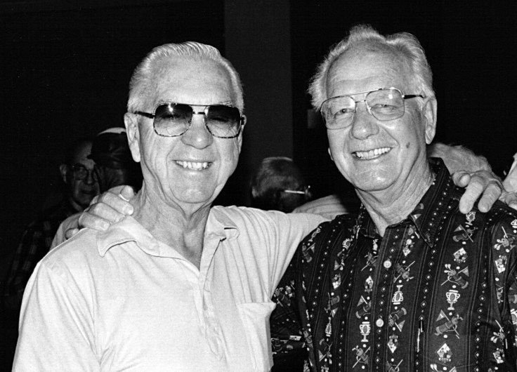 Vic Grow and Garl Nelson in 2001.