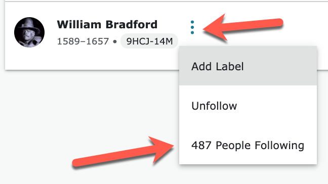 add label william bradford