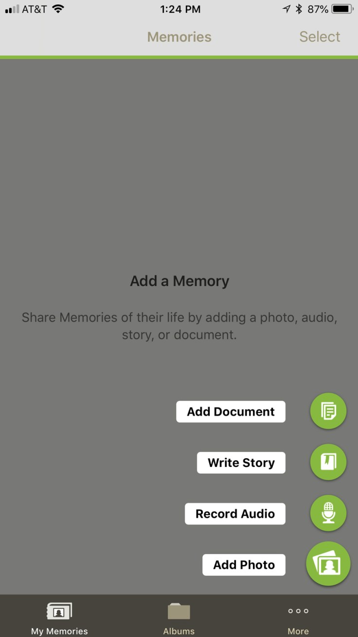 How to add memories to FamilySearch on Apple.
