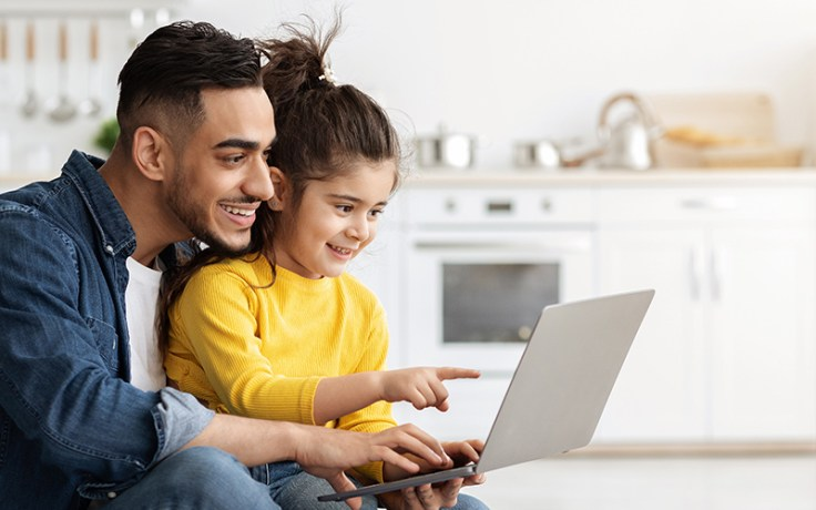 A father and daughter research their middle east family tree.