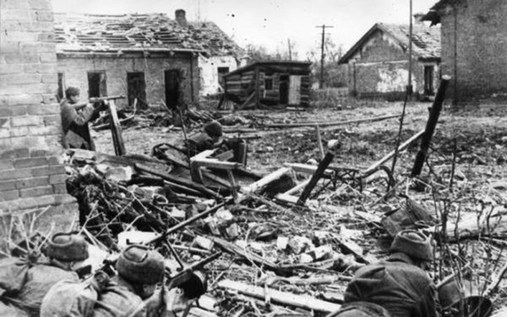 Wreckage in the Stalingrad from the Battle of Stalingrad