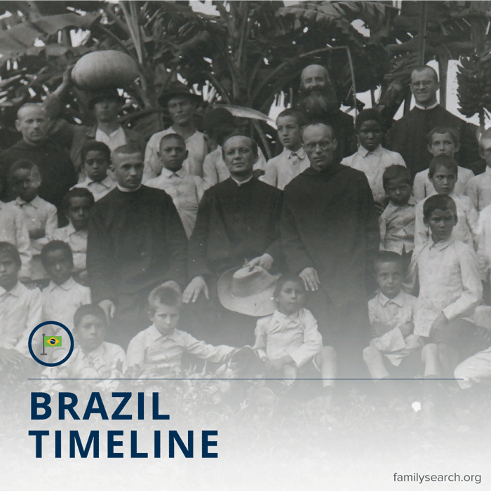 Title image for Brazil historical timeline.
