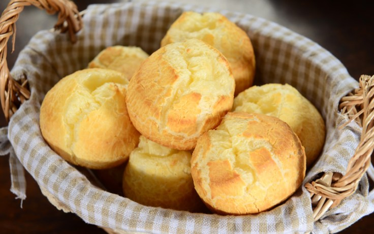 Traditional cheese bread from Brazil, or pão de queijo.