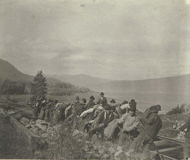 Chinese Laborers on the railroad.