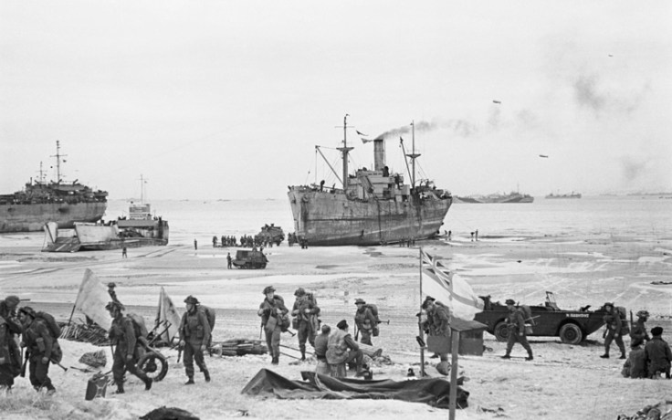 Ships landing on D-Day