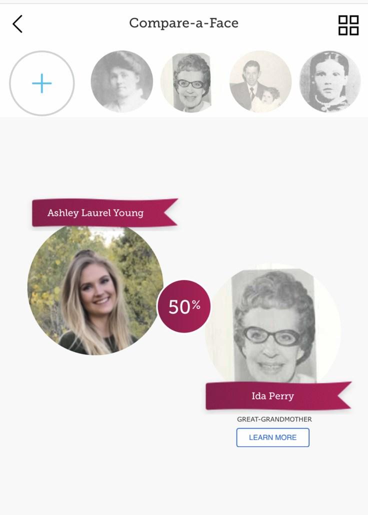 Compare-a-face screenshot