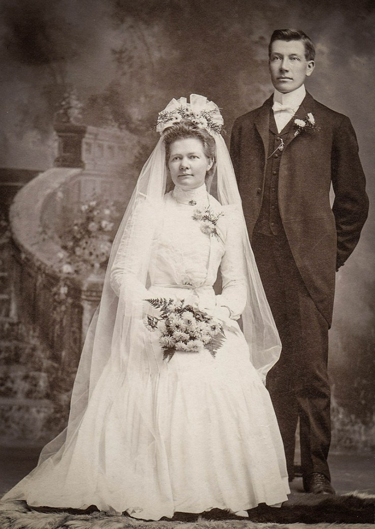 A danish woman and her new husband.