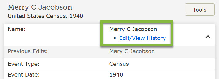 How to edit the index for a historical record on FamilySearch.