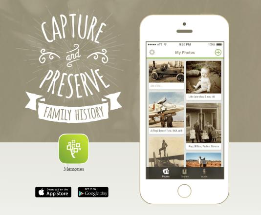 Family History Simple Start: Memories App