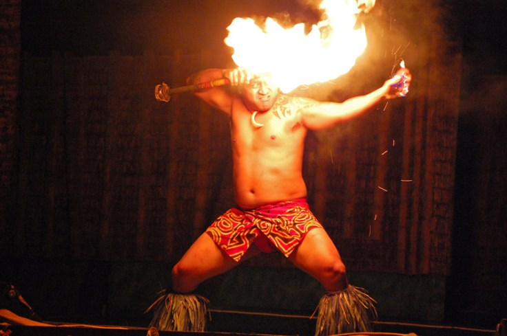 "Fire knife dancer. Fire knife dancing is an important part of ""fa'a Samoa,"" or Samoan culture."