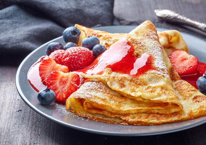 crepes, a french dish