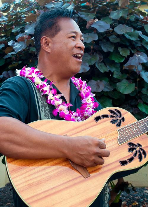 Man plays an instrument