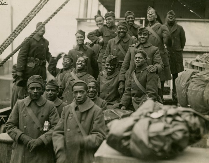 How the Harlem Hellfighters from World War I fit in with black history month.