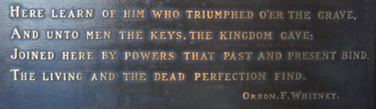 """Derek Dobson first felt love for his ancestors when he read a plaque that said, """"Joined here by powers that past and present bind the living and the dead perfection find."""""""