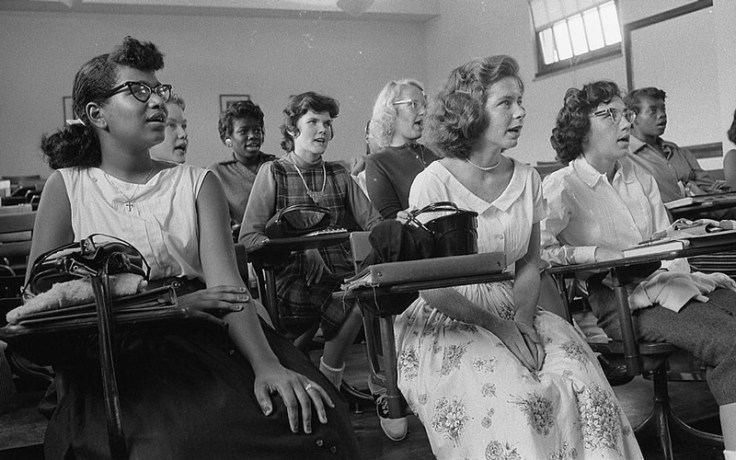 a desegregated school