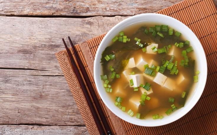 miso soup, a popular Japanese breakfast food