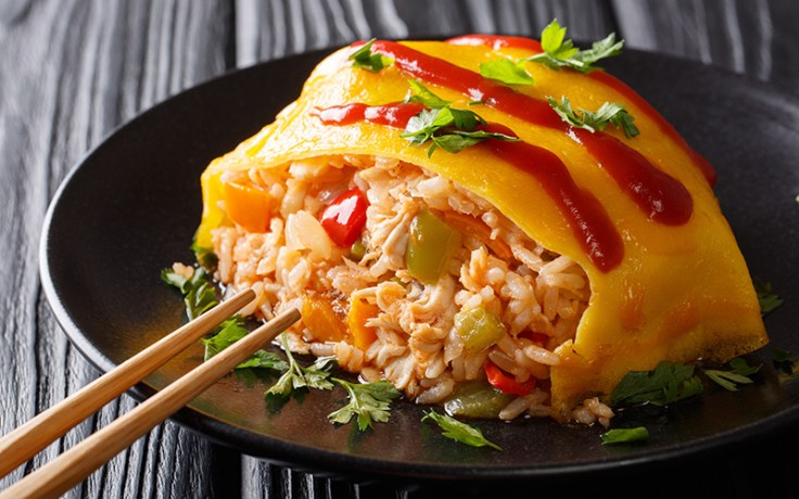 omurice, a traditional japenese breakfast.